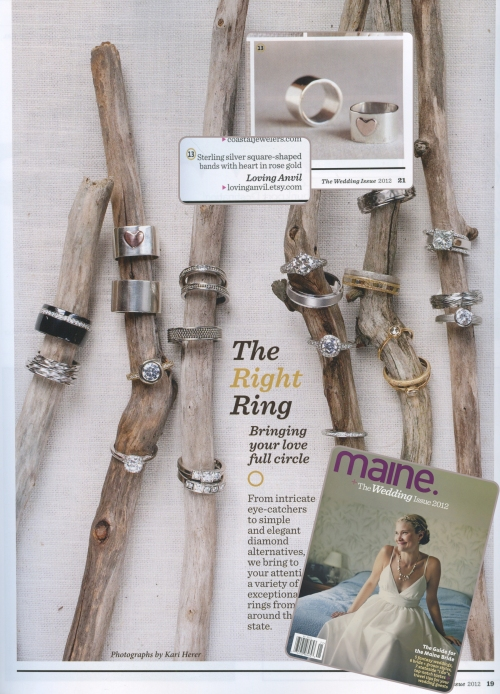 maine magazine 2012 wedding issue, lovinganvil