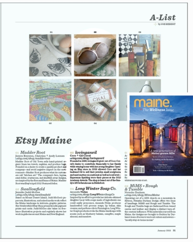 lovinganvil in the january 2013 issue of maine magazine.  article by joe herbert, photo credit, peter frank edwards