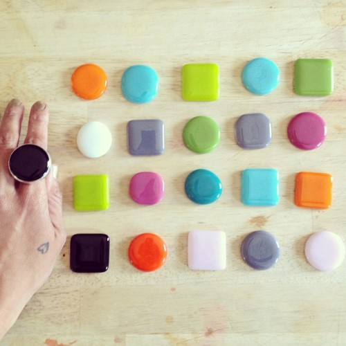 candy! dot rings by lovinganvil