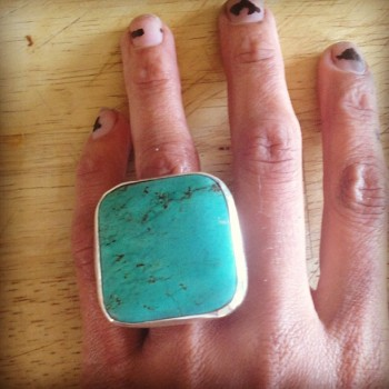 turquoise ring by loving anvil