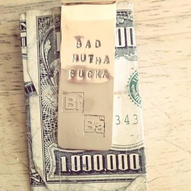 breaking bad bad mofo money clip by lovinganvil