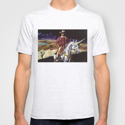 Black Velvet John Wayne Riding a Unicorn by Gil Corral, 2013. Print and Accessories on Society6.com